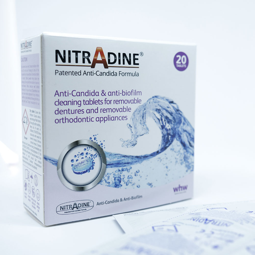 box of nitradine cleaning tablets